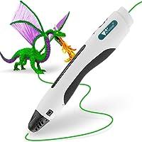 Amzdeal 3D Stylo imprimante, 3D Pen pour 3D dessins 3D stéréoscopiques impression Pen avec adaptateur UE, câble USB et 2 paquets de filaments - Blanc Passez la souris sur l'image pour zoomer Amzdeal 3D Stylo imprimante, 3D Pen pour 3D dessins 3D stéréoscopiques impression Pen avec adaptateur UE, câble USB et 2 paquets de filaments