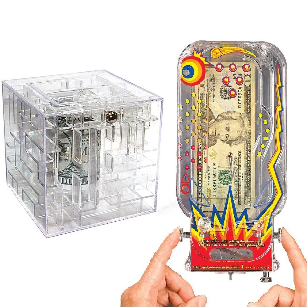 CloseoutZone Christmas Stocking Stuffers Gift Set - Money Maze Gift Box & Pinball Machine