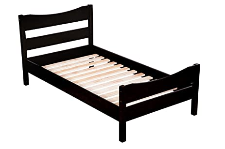 merax wood platform bed frame mattress foundation with headboard and wooden slat support twin - Wooden Platform Bed Frame