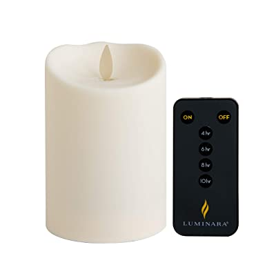 "Luminara 4"" Tall Outdoor Flameless (3.25"" Diameter) Candle (Soft-Touch) with New Remote Control: Home Improvement"