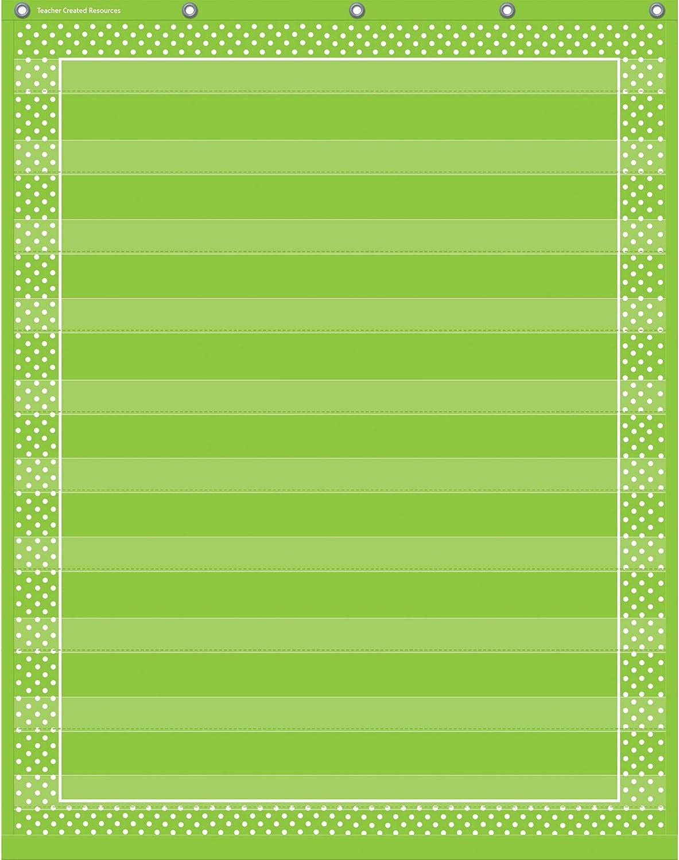 20746 Teacher Created Resources Chalkboard Brights 10 Pocket Chart