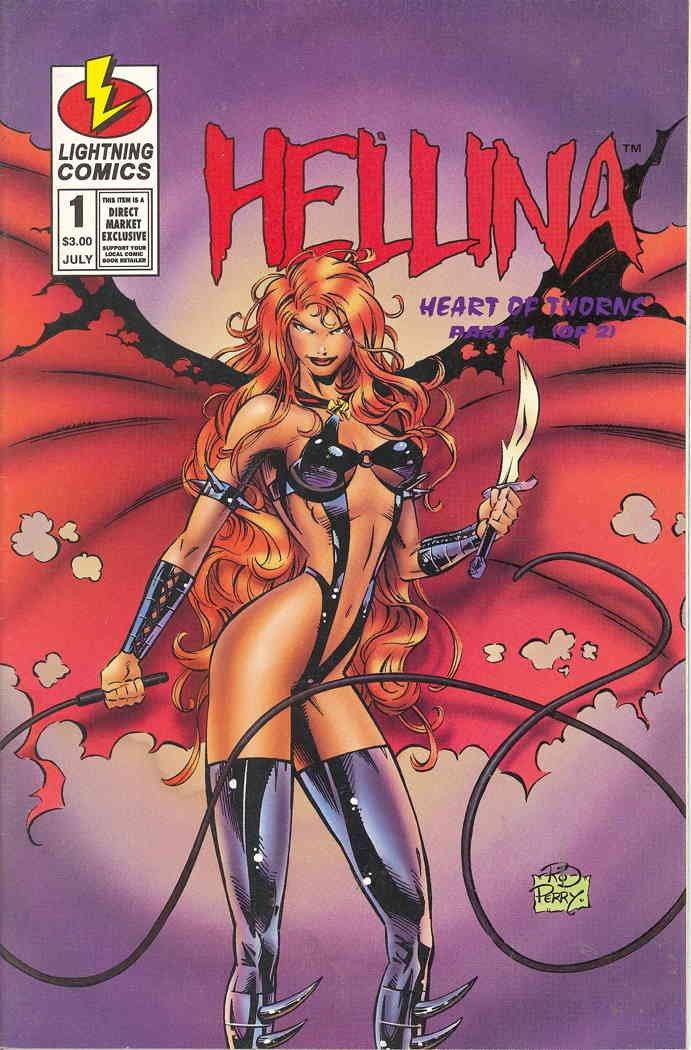 Hellina: Heart of Thorns #1 VF/NM ; Lightning comic book