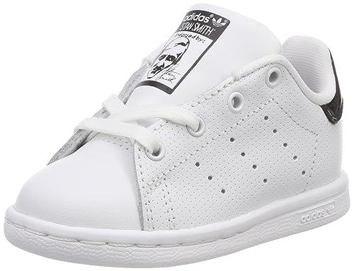 Adidas Stan Smith I, Zapatillas de Estar por casa Bebé Unisex, Blanco Ftwbla/Negbas 000, 22 EU: Amazon.es: Zapatos y complementos