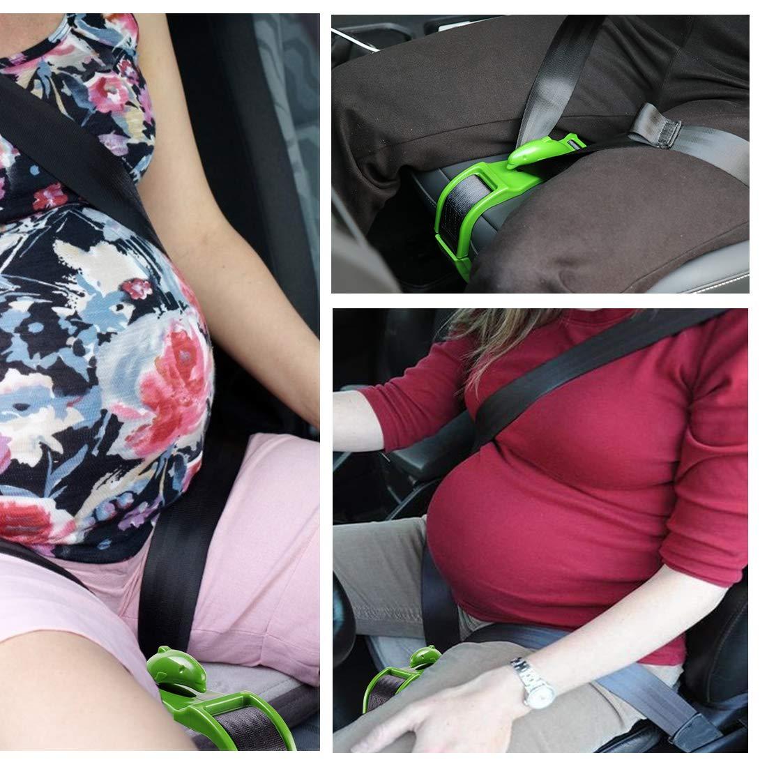 Belly Safety Pregnancy Car Seat Belt Adjuster Adjustable Seatbelt Hook Protection for Moms Safety Driving and Unborn Baby Pregnancy Maternity Bump Belt