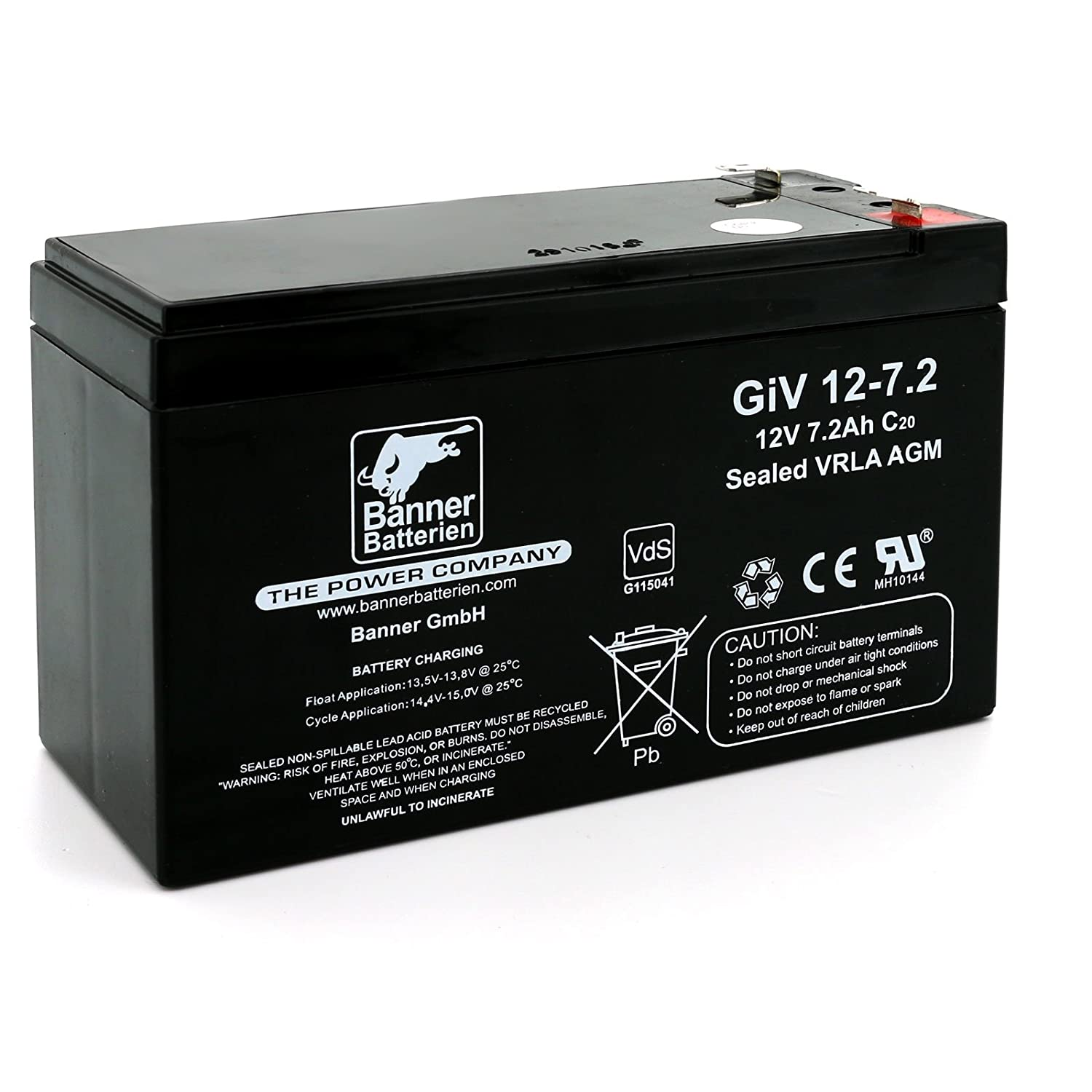 Banner Batterie Stand by Bull 12 Volt/7,2Ah Typ GiV 12-7.2