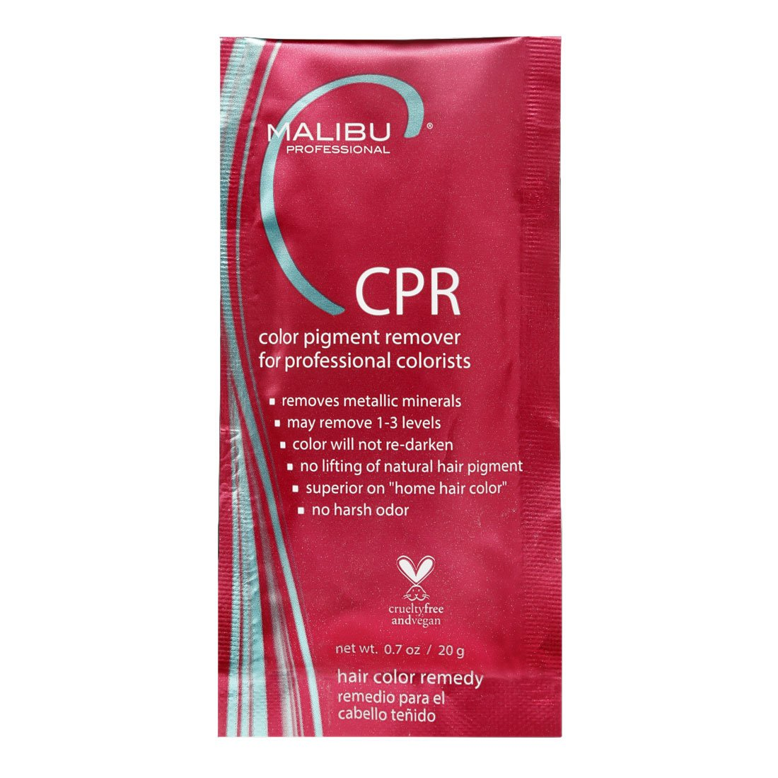 MALIBU C CPR Color Pigment Reducer 3 packets by Malibu Wellness by Malibu Wellness