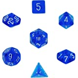 Polyhedral 7-Die Translucent Dice Set - Blue