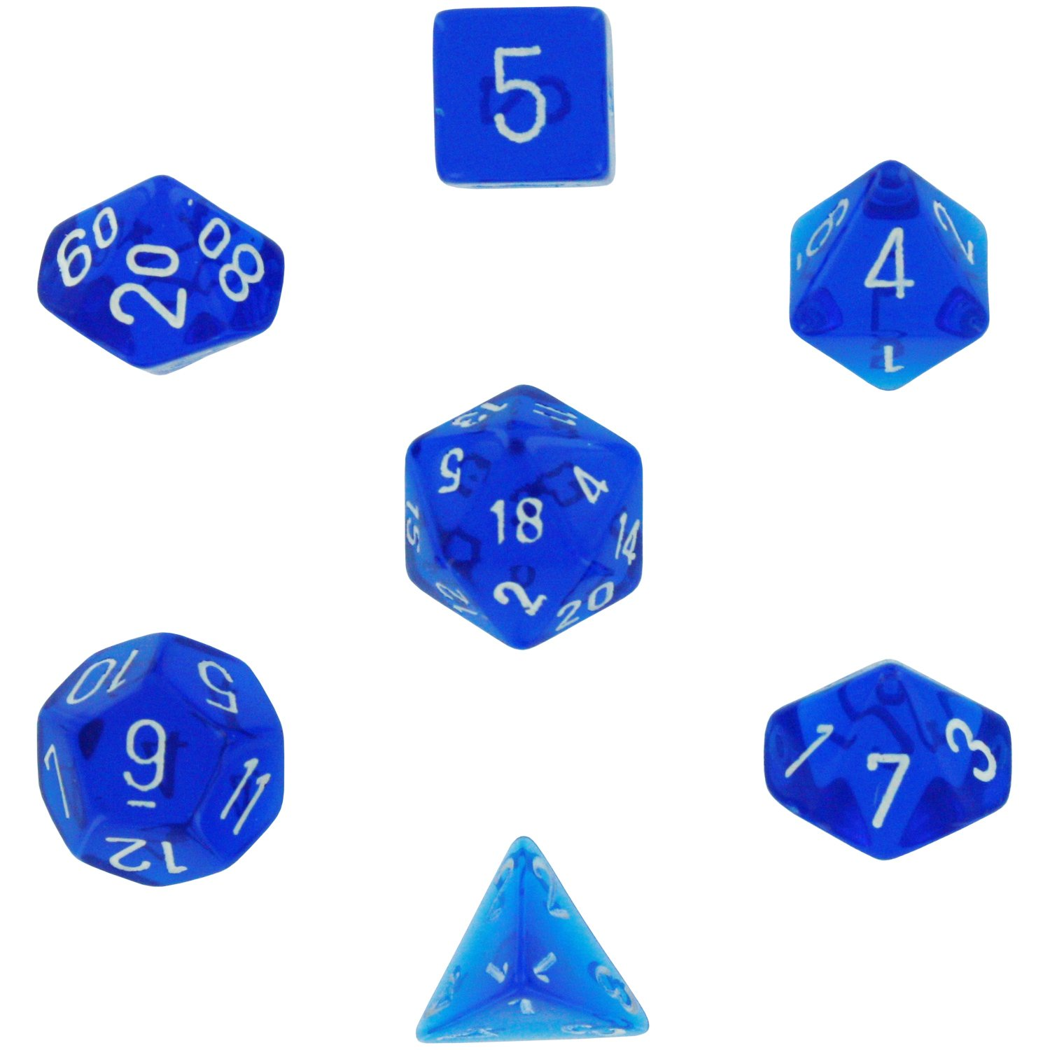 高い素材 Chessex Manufacturing 23006 7-Die Polyhedral Set Manufacturing Blue Translucent Set With White Translucent B0015ISHD8, 上石津町:b07da243 --- cliente.opweb0005.servidorwebfacil.com