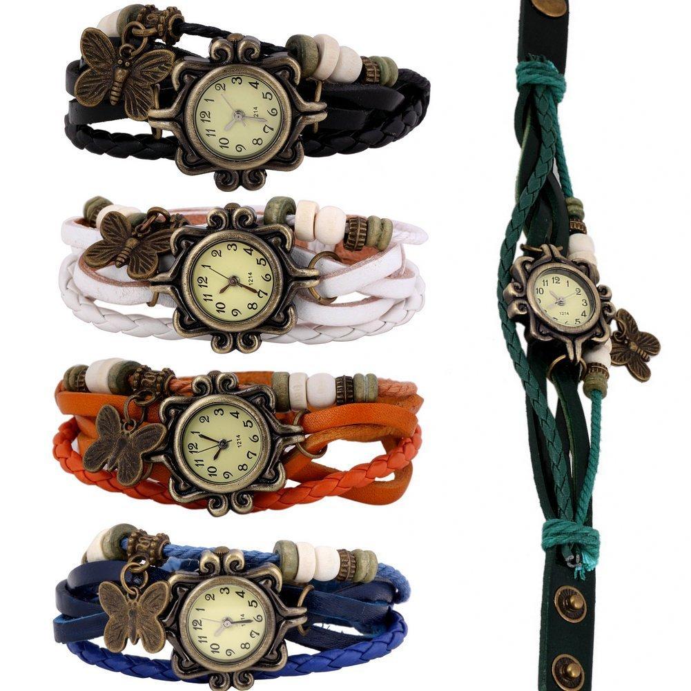 Amazon.com: Wholesale Lot of 5pcs Womens Girls Butterfly Bracelet ...