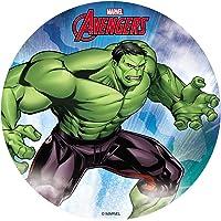 Dekora - Decoracion Tartas de Cumpleaños Infantiles en Disco de Oblea de Hulk - 20 cm