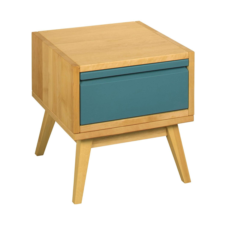 BioKinder 25272 Nachttisch Nachtkästchen Retrotisch Beistelltisch aus Holz 40x40x42cm