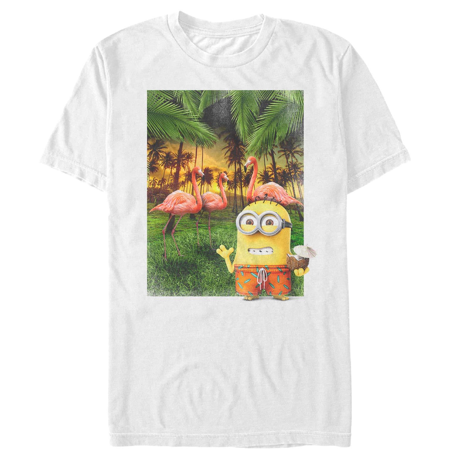 Despicable Me Minion Flamingo Vacation T Shirt 3109