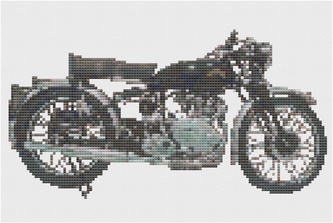Vincent Comet Moto Cross Stitch Kit por florashell