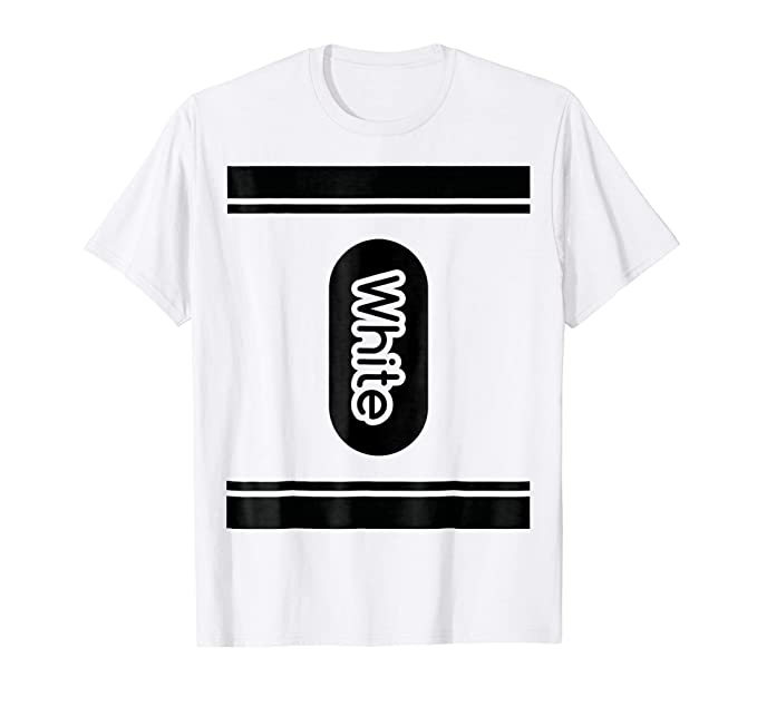 mens white crayon halloween costume t shirt couple friend group 2xl white