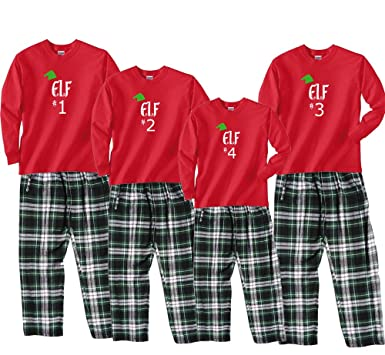 santas elf 1 red pajama set adult large ls cgw