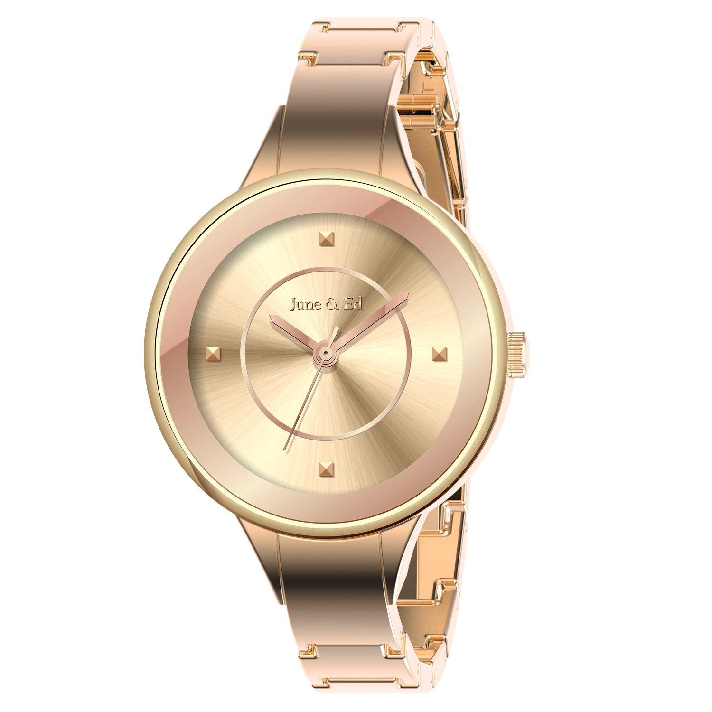June & Ed Quartz Rose Gold Bracelet Women's Watch W-0001