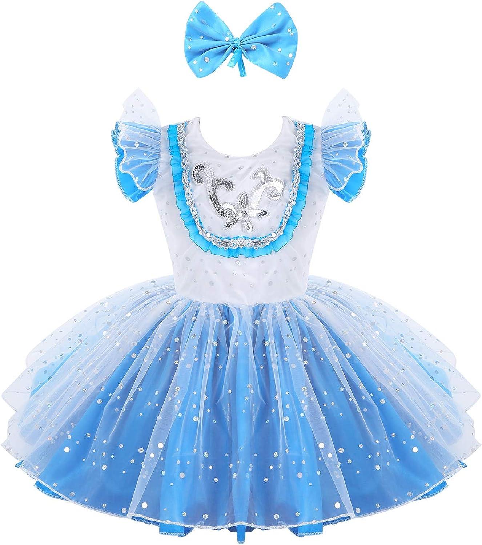 UK Kid Girls Ballet Dance Leotard Tutu Dress Gymnastics Fancy Dancewear Costume