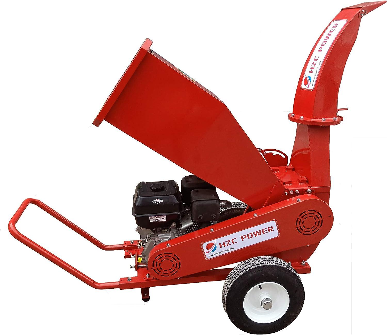 HZC Power SR180 Motor de gasolina madera trituradora de jardín ...