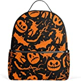 JSTEL Halloween Icons And Signs School Backpack 4th 5th 6th Grade for Boys  Teen Girls Kids 5f4b9fdc49534