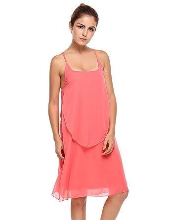 ecdd6914cb0 Meaneor Women s Summer Cold Shoulder Crochet Lace Sleeve Loose Beach Dress