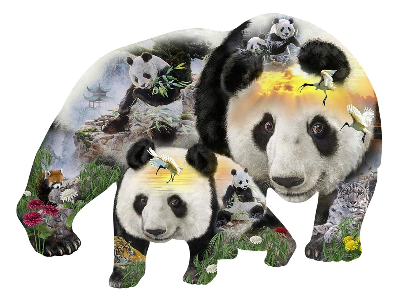 【★安心の定価販売★】 Panda-Monuim 1000 pc Shaped Jigsaw Shaped Puzzle Puzzle pc by SunsOut B07G2SLPK5, キタカンバラグン:862c5f43 --- a0267596.xsph.ru