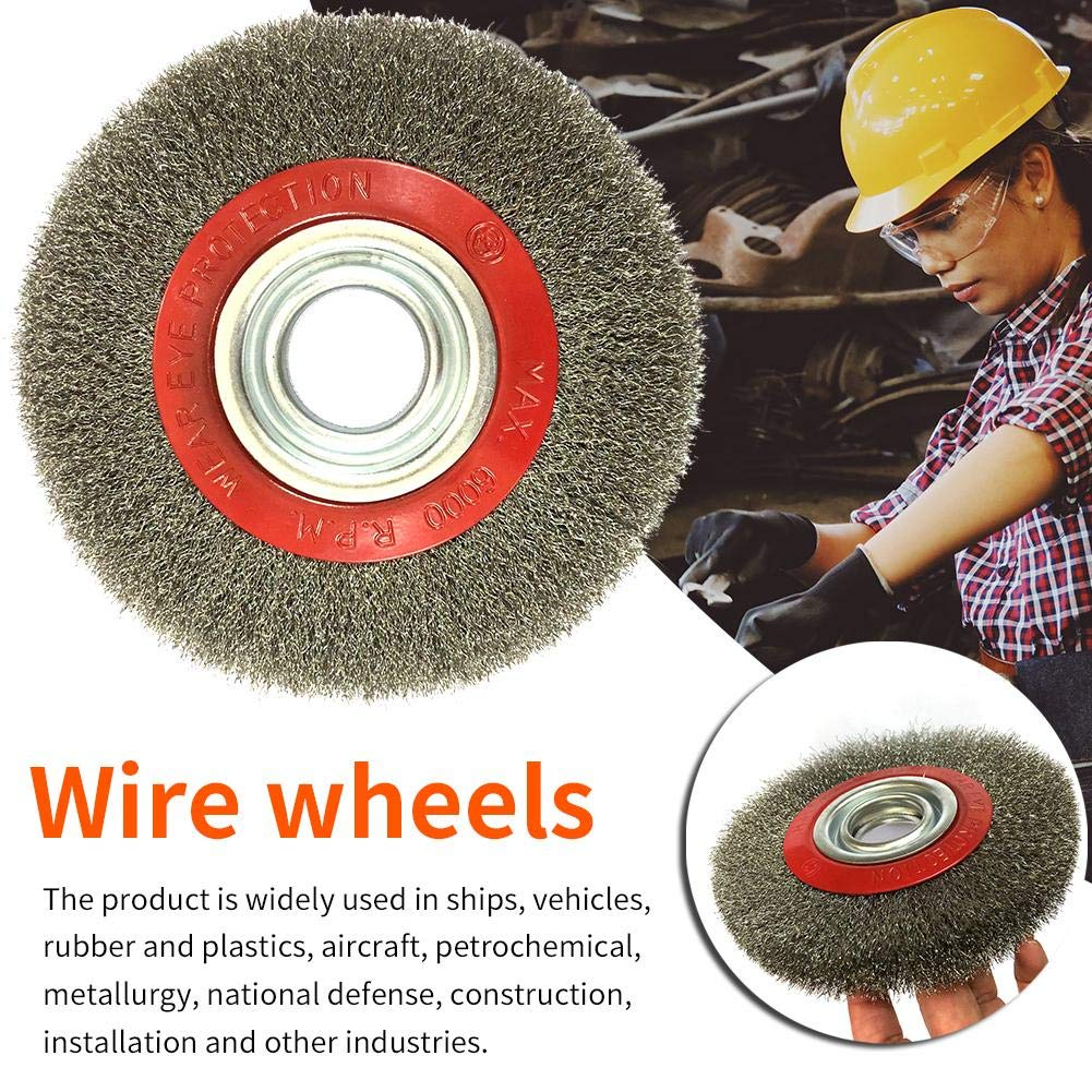 CAPTHOME Hole Machine Stainless Steel Parallel Carved Wire Wheel - 6 Inch 15032MM by CAPTHOME