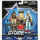 G.I. Joe 50th Anniversary Classic Clash Action Figure Set (Spirit Iron Knife vs. Storm Shadow) 3.75 Inches