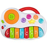 Toddler Piano Learning Toy DJ Mixer. Colorful Kids Musical Instruments Educational Development Toy. Electronic Play Piano Musical Toy. Kids Keyboard Piano Music Toys 12 Months+