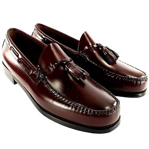 Mens G.H. Bass Larkin Slip On Tassel Smart Penny Loafer Leather Shoe UK 7-13