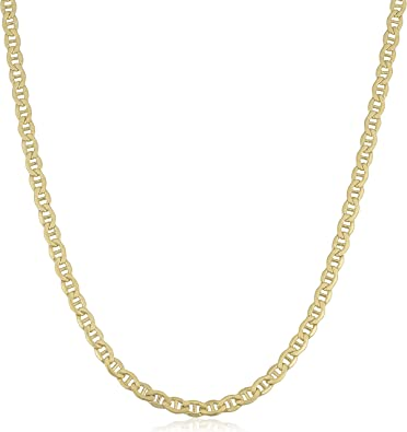 """10K Solid Yellow Gold Mariner Link Chain 1.7mm 16/"""" 18/"""" 20/"""" 24/"""""""