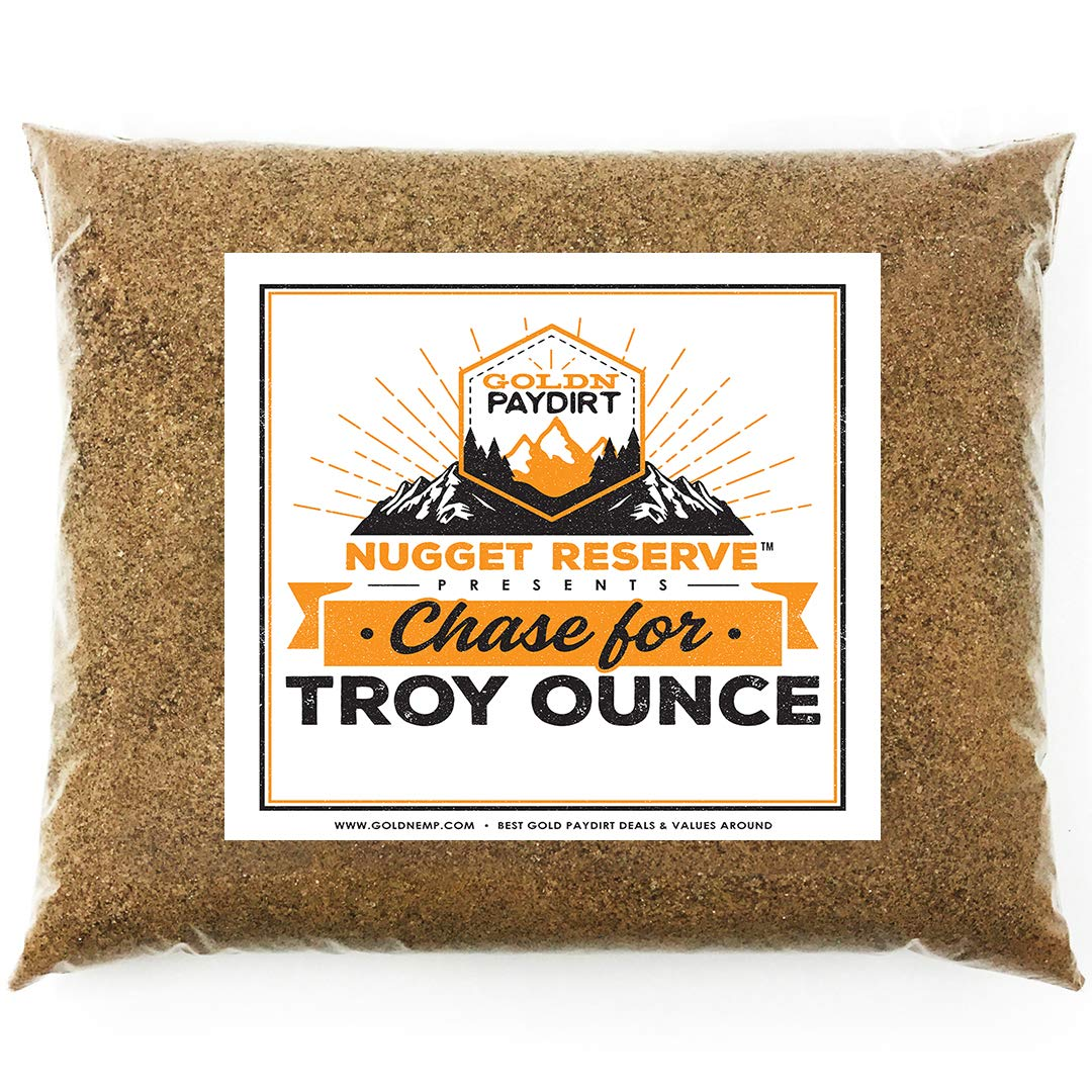 Nugget Reserve 'Top Secret Chase for Troy Ounce' - Gold Nugget Paydirt Panning Concentrate Pay Dirt Bag - Gold Prospecting