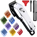 Professional Cordless Hair Clipper for Men Hair Haircuttings Kit Mustache Body Grooming Kit Rechargeable Hair Trimmer…