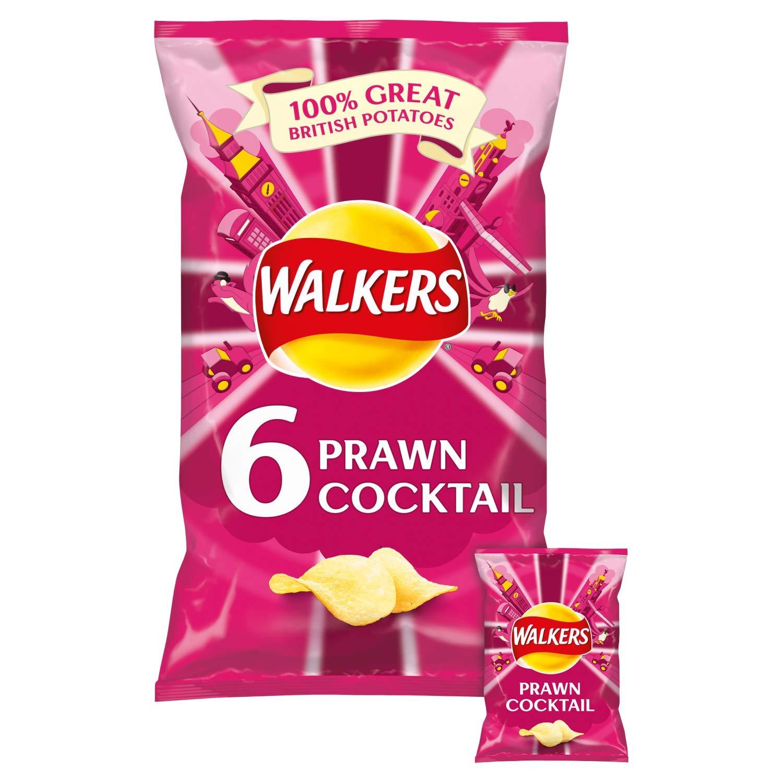 Walkers Prawn Cocktail Crisps 6 X 25G