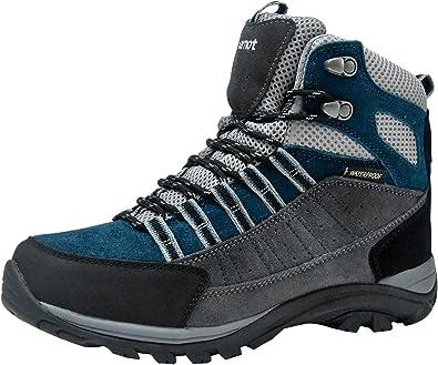 riemot Botas de Senderismo y Campo para Mujer, Zapatillas Altas de Trekking Zapatos de Montaña Escalada Aire Libre Calzado Impermeable Ligero ...