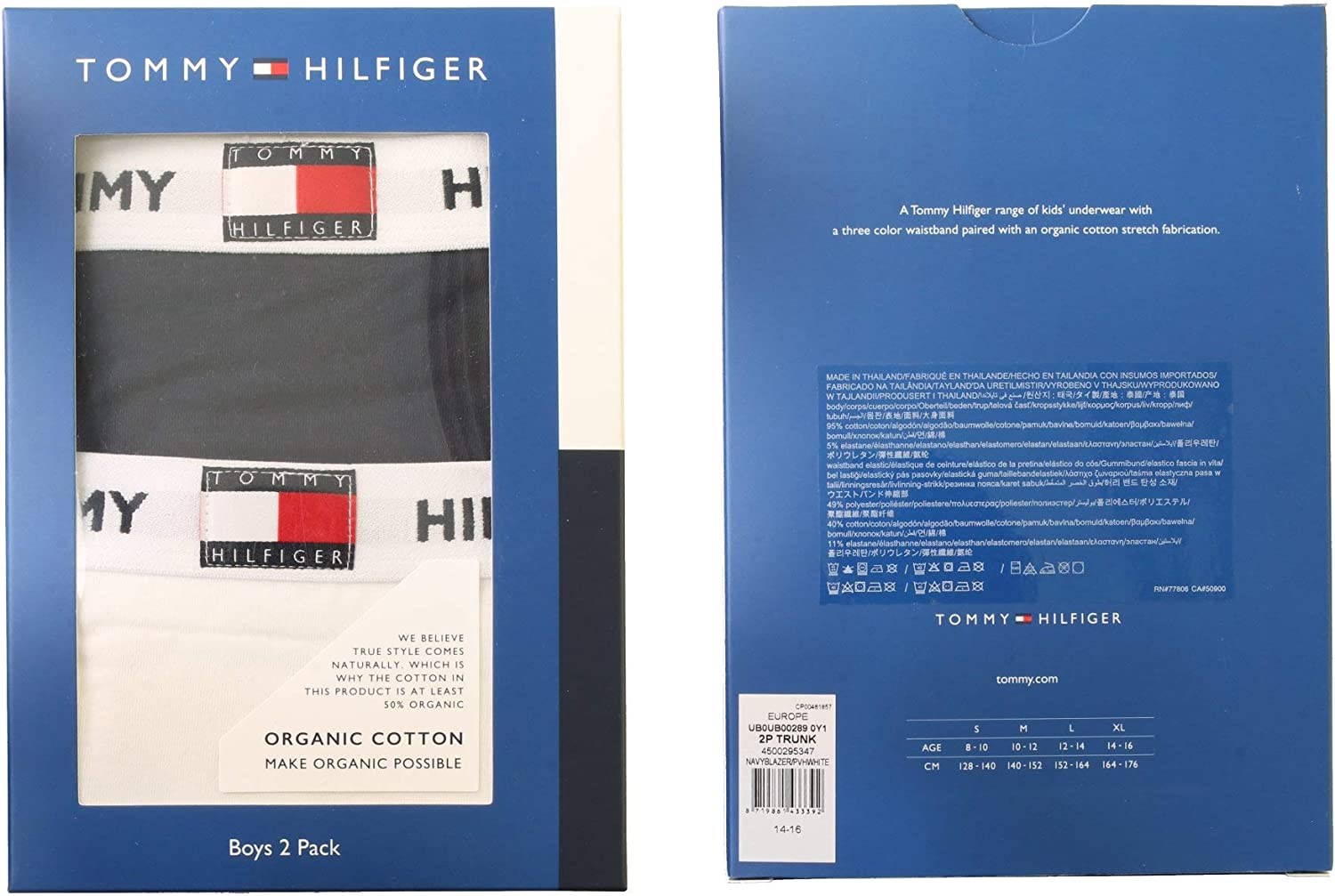 Tommy Hilfiger Boys Boxer Shorts//Trunks Boxed 2-Pack