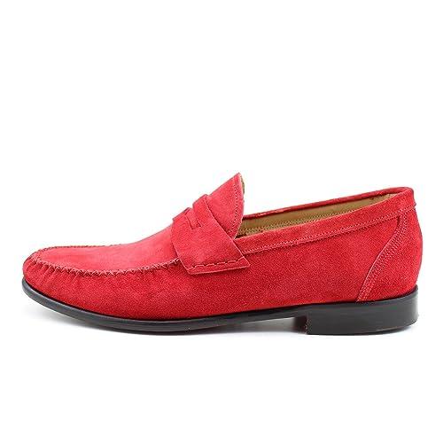 Giorgio Rea Zapatos Para Hombre Rojo Elegante Hombre Zapatos Hecho A Mano EN Italia Cuero Real Brogue Oxfords Richelieu Mocasines: Amazon.es: Zapatos y ...