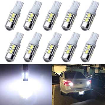 w5w New 10 x 501 Sidelights sidelight Number Plate Bulb Light Car Van Trailer