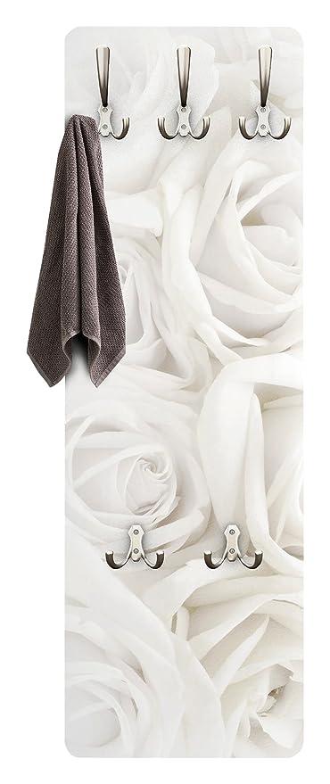 Apalis Rosas tiques - Diseño Floral Rosas Blancas - Perchero ...