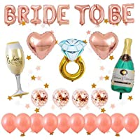 Globos oro rosa decorados para despedida de soltera