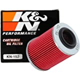 K&N Motorcycle Oil Filter: High Performance, Premium, Designed to be used with Synthetic or Conventional Oils: Fits Select Can-Am Vehicles, KN-152