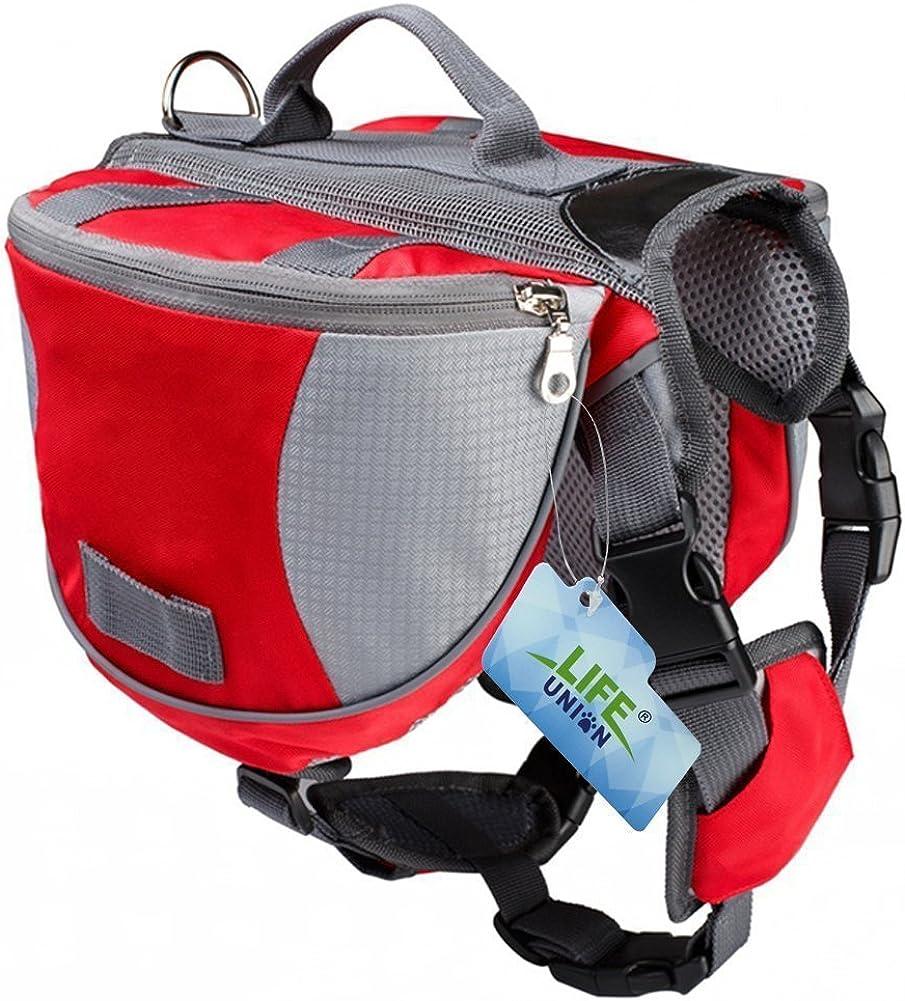 Lifeunion Saddle Bag Backpack for Dog, Tripper Hound Bag Travel Hiking Camping