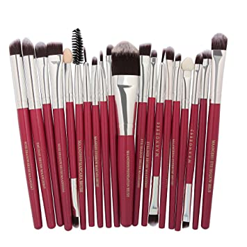 581fa5b243e2 Amazon.com: Honhui Makeup Brushes set,20 Piece Premium Synthetic ...
