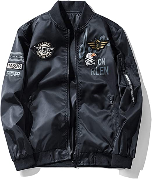 MA-1 ジャケット ブルゾン ミリタリージャケット 中綿 両面着 男女兼用 防風撥水 刺繍 ワッペン 大きいサイズ ジャンパー