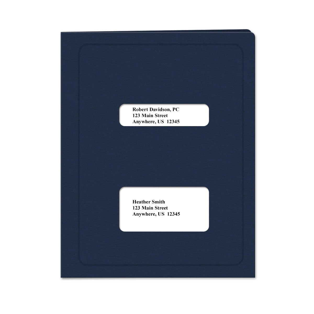 Double Window Tax Return Software Pocket Folder - 50 Pack