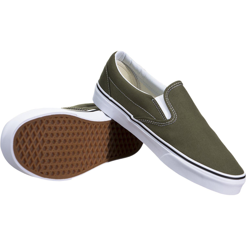 Vans ''Classic Slip-On Sneakers (Winter Moss/True White) Unisex Skate Shoes by Vans (Image #3)