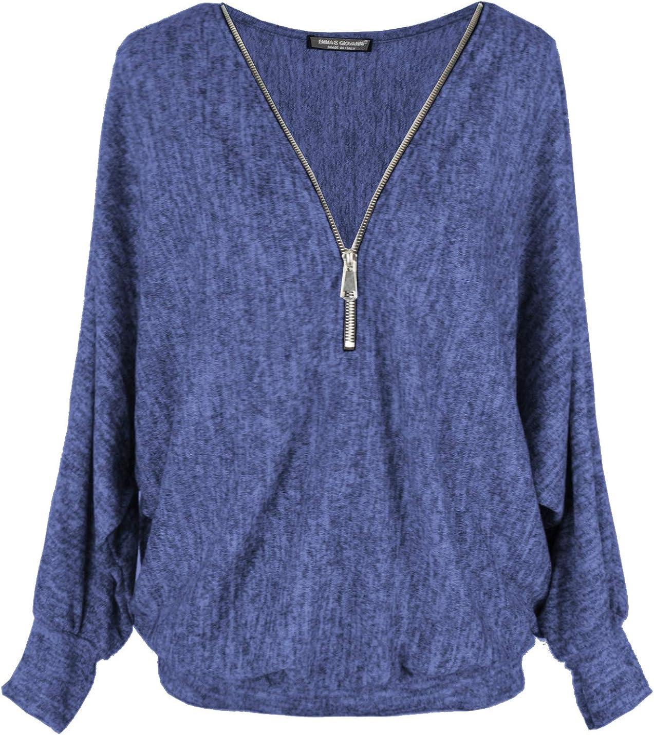 Pullover mit Spitze Made In Italy Oversize Oberteile - Damen Emma /& Giovanni