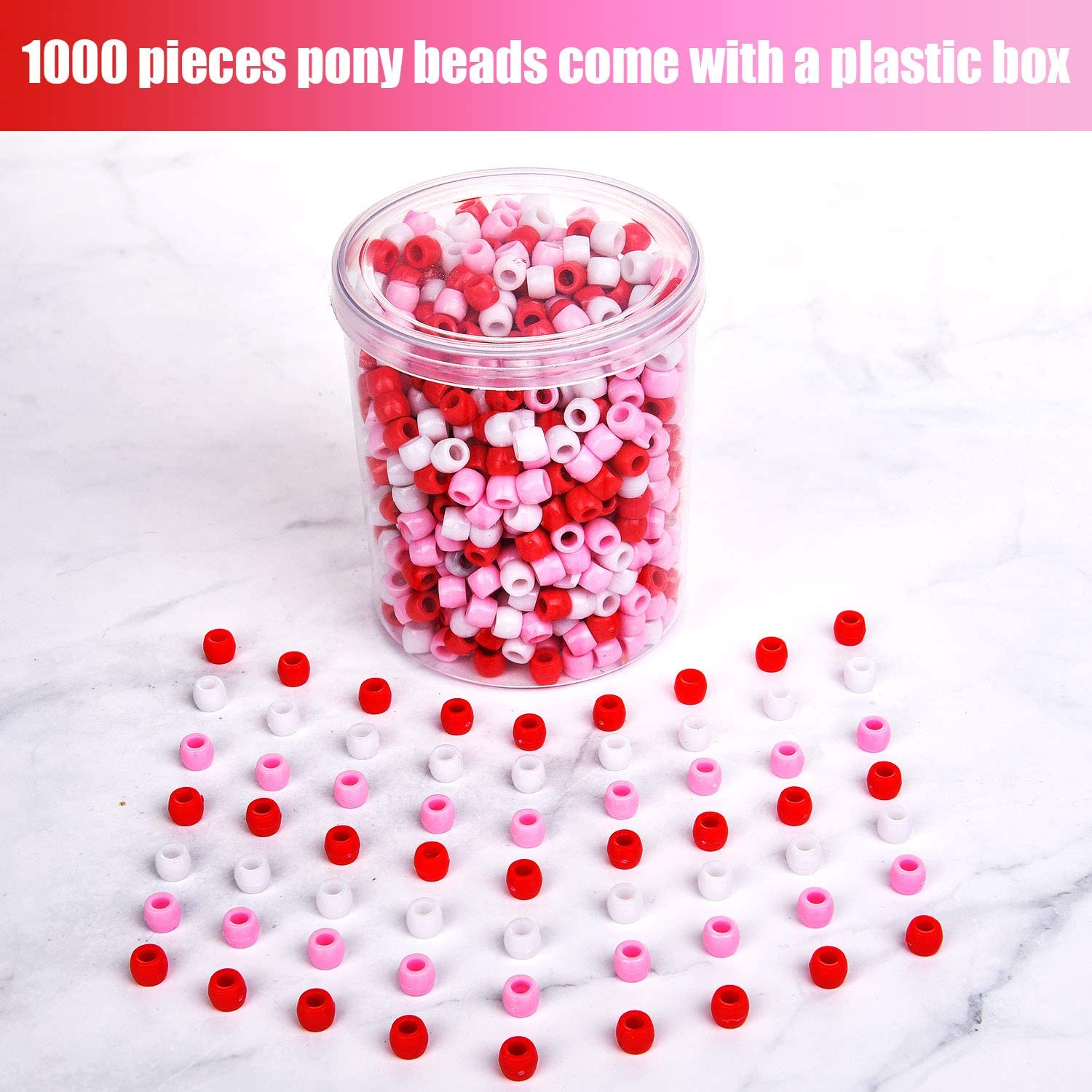 Pony Beads Transparent Christmas Red 6x9mm Jewelry Crafts fnt Acrylic Heart