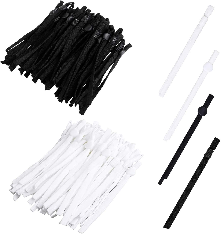 Anti bandas el/ásticas 200 piezas de bandas el/ásticas de cord/ón con hebilla ajustable para coser costura el/ástica