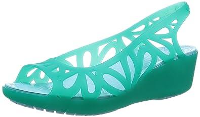 ac8b437b11c8 crocs Adrina III Mini Women Wedge in Green  Buy Online at Low Prices in  India - Amazon.in