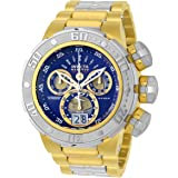 Invicta 23565 Men's Reserve Chronograph Blue Dial Two Tone Steel Bracelet Dive Watch